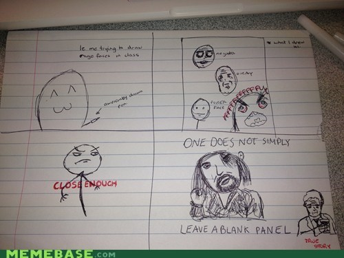 One Does Not Simply Draw Rage Comics IRL