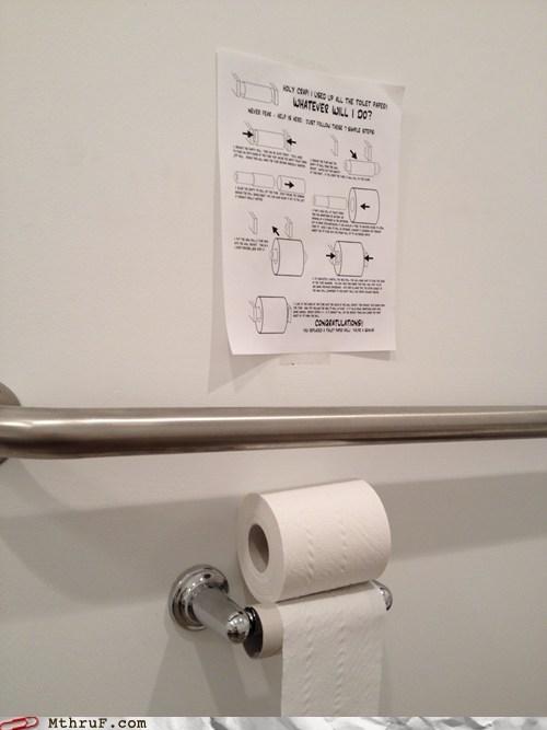 Y U No Change Toilet Paper Roll?
