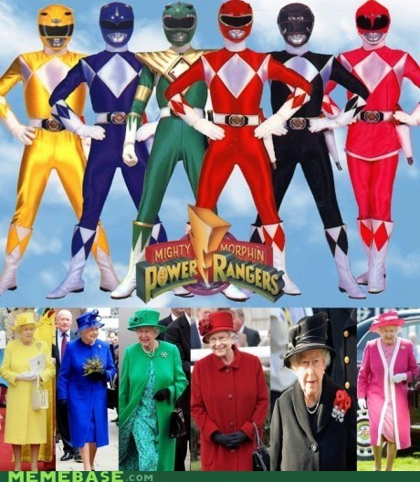 Memes,power rangers,television,the queen