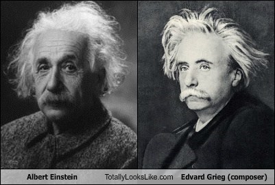 Albert Einstein Totally Looks Like Edvard Grieg (composer)