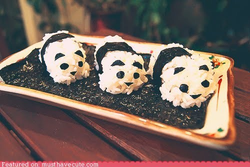 epicute,nori,panda,ric,seaweed,sushi