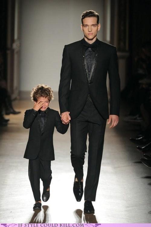 alexander cunha,children,cool accessories,crying,kids,runway,smalto