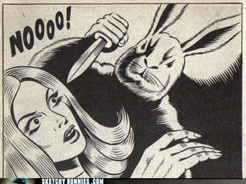 Sketchy Bunnies: No Means No, Even If It's Your Last Word
