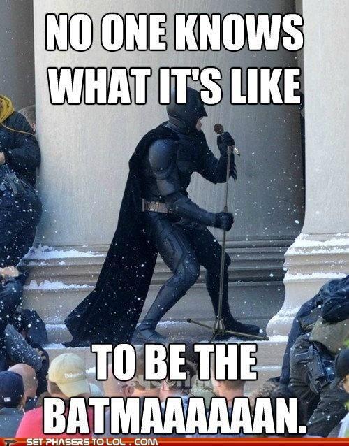 batman,bruce wayne,concert,No One Knows,singing