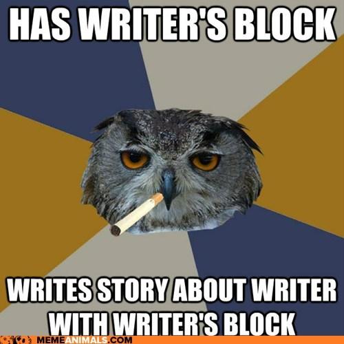 Art Student Owl: It's Called Metafiction