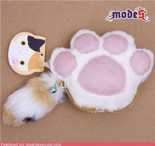 Cat Paw Plush Wallet