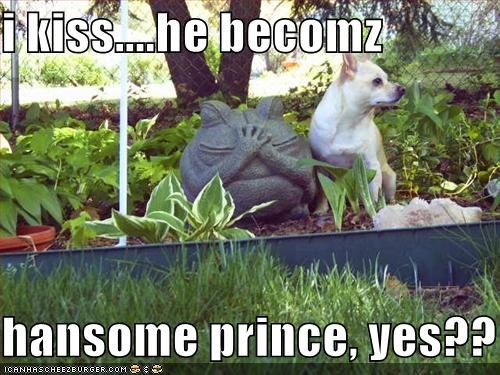 i kiss....he becomz  hansome prince, yes??