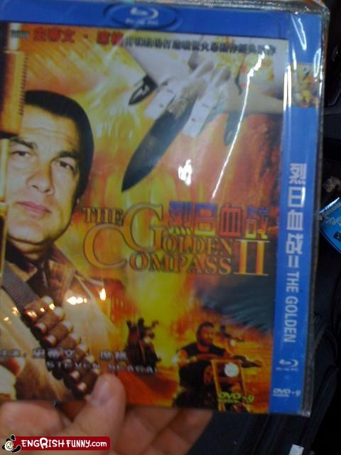 blu ray,China,chinese,golden compass,Movie,Steven Segal,Video