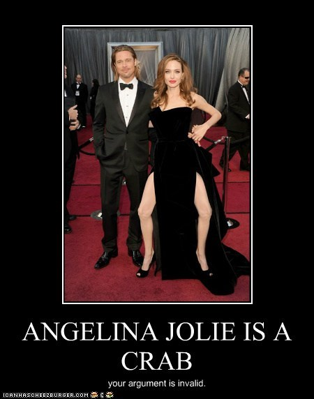 ANGELINA JOLIE IS A CRAB