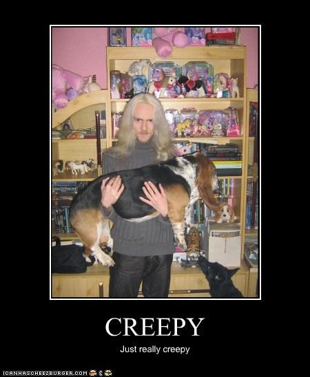 basset hound,creepy,demotivational,dogs,funny,wtf