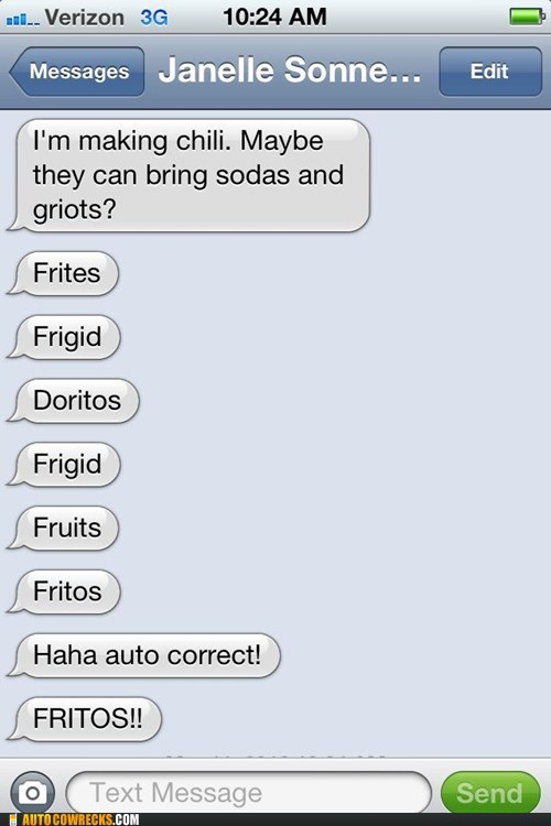 Proof That Doritos Bribed the Developers of Auto Correct