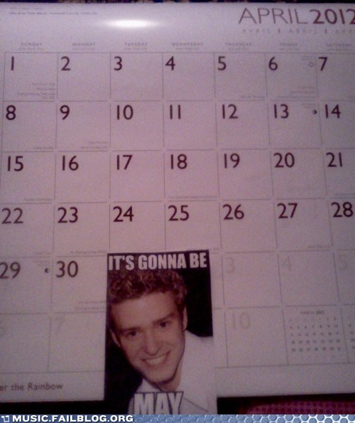 april,its-gonna-be-me,Justin Timberlake,month,nsync,pop,pun