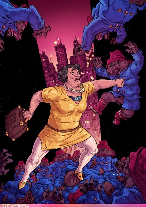 Oh Nothing, Just Singer Susan Boyle Fighting an Infinite Army of Paddington Bears