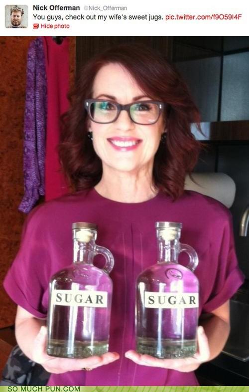 double meaning,innuendo,jugs,literalism,megan mullaly,Nick Offerman,sugar,sweet,tame