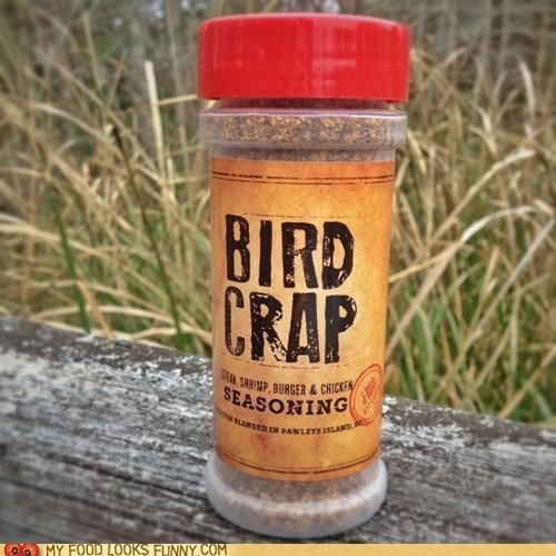 bird crap,meat,package,seasoning,spices