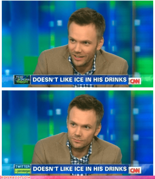Joel McHale Requested a Special Banner on Piers Morgan Tonight
