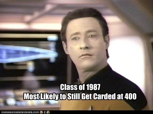 brent spiner,carded,data,graduation,most likely,Star Trek