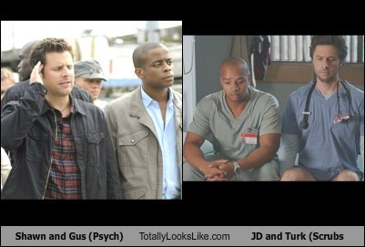 Shawn and Gus (Psych) Totally Look Like JD and Turk (Scrubs)