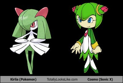 Kirlia (Pokemon) Totally Looks Like Cosmo (Sonic X)