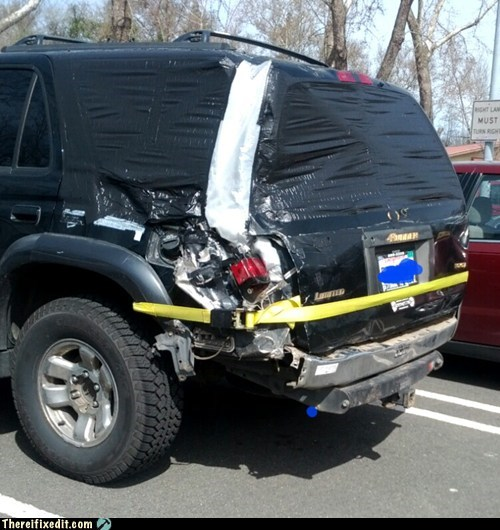 accident,belt,car wreck,duct tape