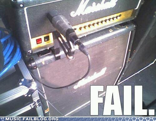Music FAILS: Guitar Amp FAIL