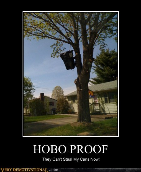 garbage can,hilarious,hobo,theft,wtf