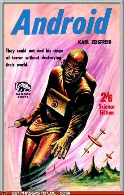 WTF Sci-Fi Book Covers: Android