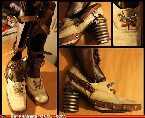 boots,chell,Portal,portal 2,spring,Steampunk,victorian