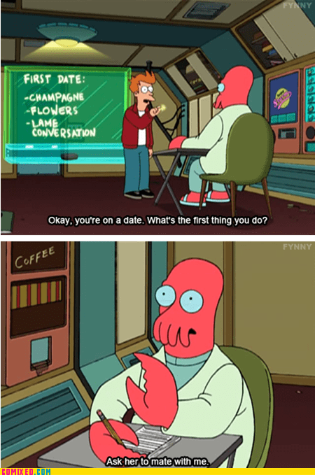 dating,futurama,TV,why not zoidberg