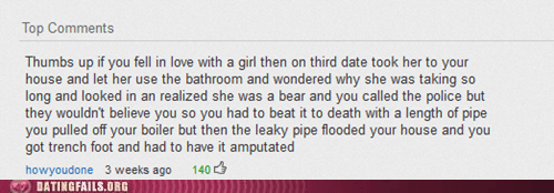 bears,comments,third dates,thumbs up if