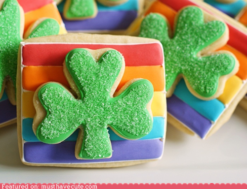 clover,cookies,epicute,icing,rainbow,shamrock