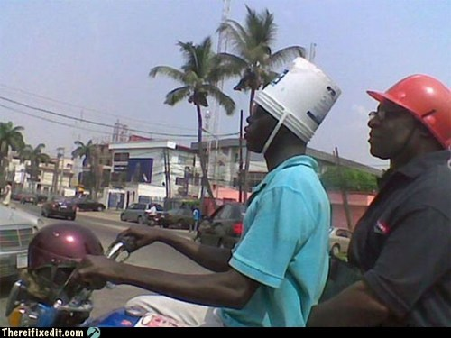 bucket,helmet,motorcycle