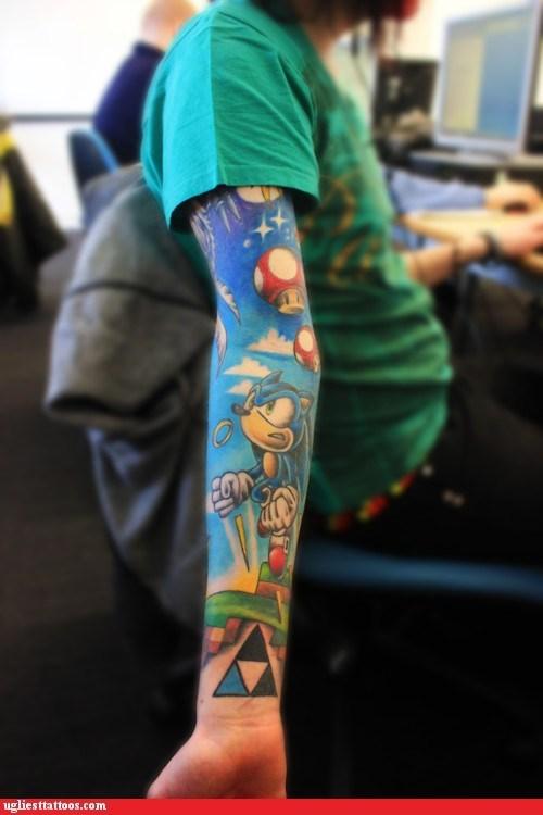 sega,sonic the hedgehog,tattoo WIN,Videogames