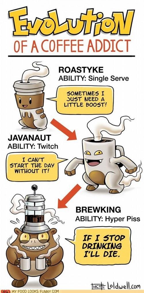 best of the week,caffeine,coffee,drawing,evolution,Pokémon