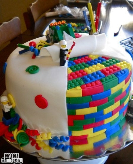 WIN!: LEGO Cake WIN