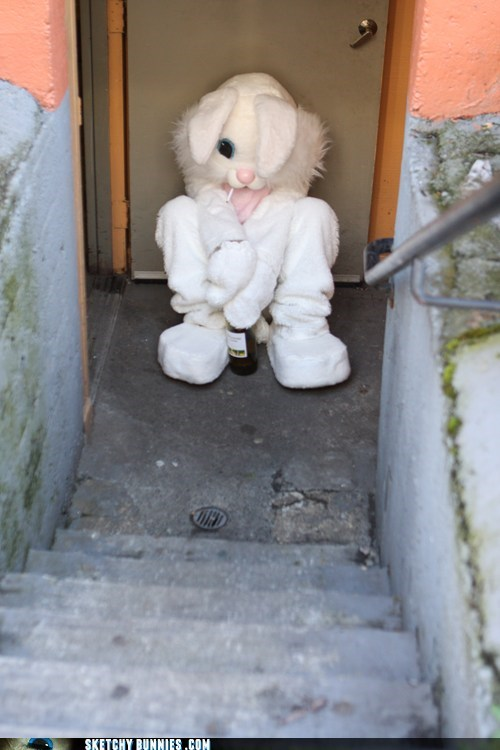 Sketchy Bunnies: Piss Off Kids, I'm On My Smoke Break