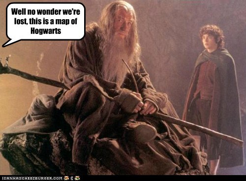 elijah wood,Frodo Baggins,gandalf,Hogwarts,ian mckellen,lotr,lost,map