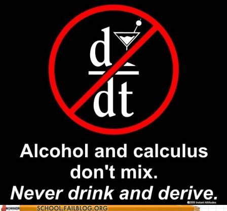 alcohol,calculus,drunk math,never drink and derive
