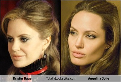 Kristin Bauer Totally Looks Like Angelina Jolie