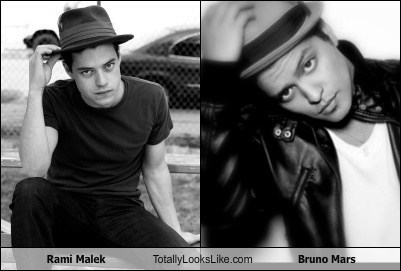 Rami Malek Totally Looks Like Bruno Mars