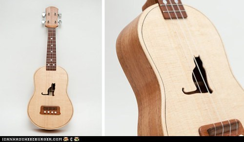 Custom Kitteh Ukelele