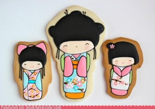 art,cookies,dolls,epicute,icing,kokeshi