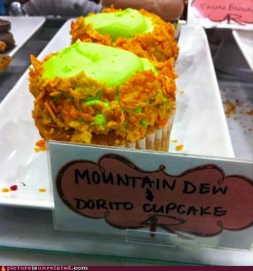 Mountain Dew & Dorito Cupcakes
