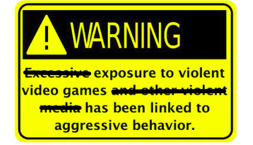 Video Game Warning Label Proposal of the Day