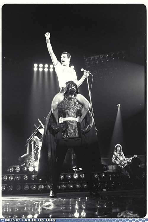 concert,darth vader,freddie mercury,live,nostalgia,star wars
