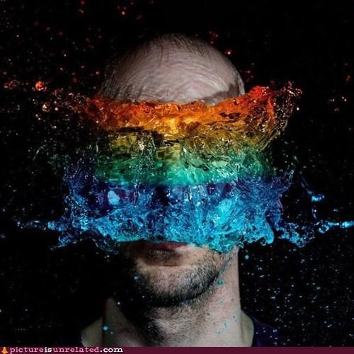 rainbow,water balloon,wtf