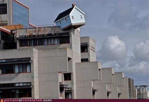 house,precarious,wtf