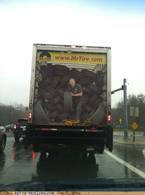 Ad,banner,IRL,scary,sign,tire