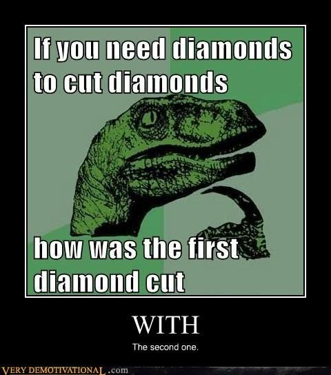 cut,diamond,first,hilarious,logic,second
