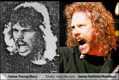 James Young (Styx) Totally Looks Like James Hetfield (Metallica)